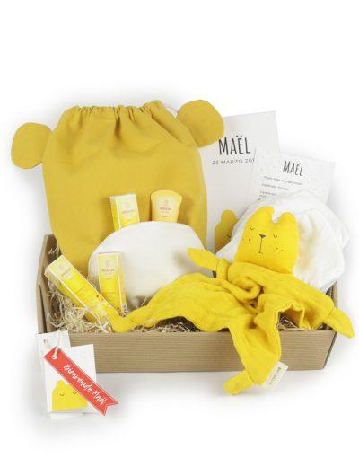 Cesta Bebé Eco Doudou y mochila osito miel