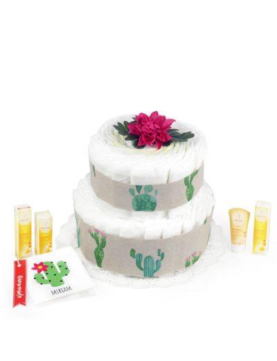 Tarta de pañales Cactus