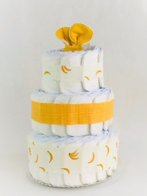 ampliar imagen Tarta de pañales banana split grande