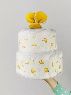 ampliar imagen Tarta de pañales banana split pequeña