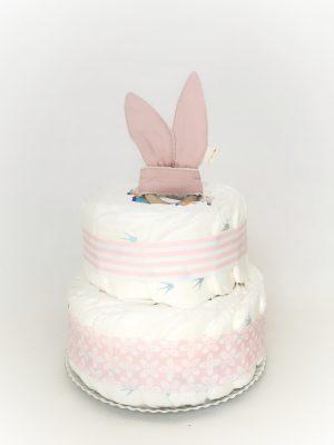 tarta de pañales ecológicos rosa
