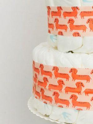 ampliar imagen tarta de pañales pink dog detalle 1