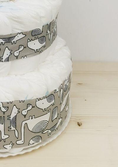 ampliar imagen tarta de pañales animals gris detalle1