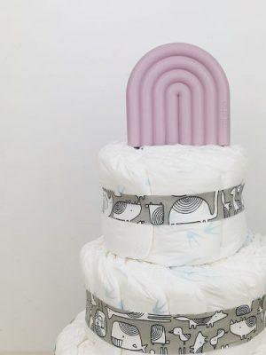 ampliar tarta de pañales animals gris detalle 2