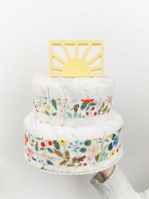 ampliar imagen de tarta de pañales primavera pequeña