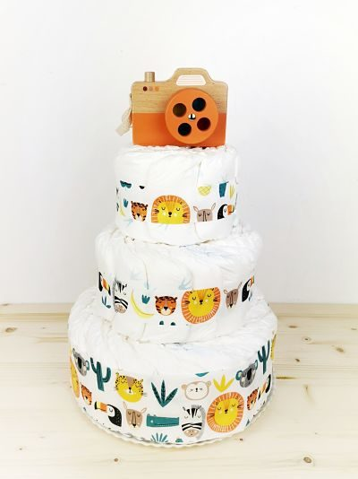 ampliar imagen de tarta de pañales safari